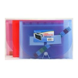 "12 Units of Expanding File -7 pocket-Letter Size- 8.5"" x 11""- asstd colors - Storage Holders and Organizers"