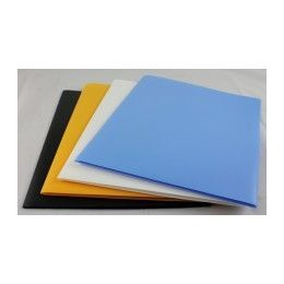 "100 Units of Two Pocket Folders -Plastic -8.5""x11"" Size PapeR-Asstd Colors. - Folders and Report Covers"