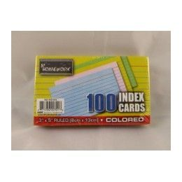 "48 Units of Index Cards -Colors - Ruled - 3""x5"" - 100 Ct - Poly Wrapped - Labels ,Cards and Index Cards"