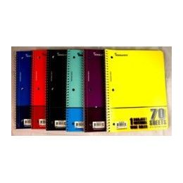 "48 Units of Wire Notebook - 70 sh - 10.5"" x 8"" - WR - 1 Subject - Notebooks"