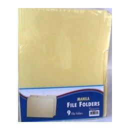 48 Units of File Folders - 1/3 cut - 9 ct - Manila-Letter Size - Storage Holders and Organizers