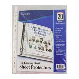"48 Units of Sheet Protectors - Clear Plastic - Top Loading - 20 count - for 8.5"" x 11"" paper - Storage Holders and Organizers"