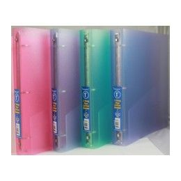 """48 Units of Binder - Flexiable  Glitter vinyl - 1"""" - 3 rings - assorted colors - Clipboards and Binders"""
