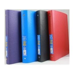 """48 Units of Binder - Flexible vinyl - 1"""" - 3 rings - assorted solid colors - Clipboards and Binders"""
