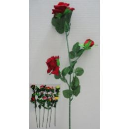 "144 Units of 29"" 3 Head Roses - Artificial Flowers"