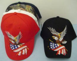 36 Units of Eagle With Flag Hat - Baseball Caps & Snap Backs