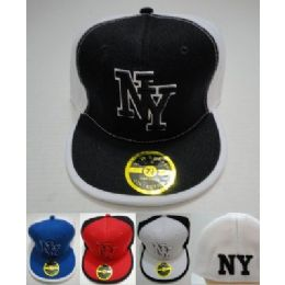 24 Units of Fitted Ny Hat [block Letters] - Baseball Caps & Snap Backs