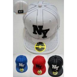 72 Units of Fitted Ny Hat [stitching] - Baseball Caps & Snap Backs
