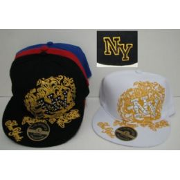 72 Units of Fitted Ny Hat With Bling - Baseball Caps & Snap Backs