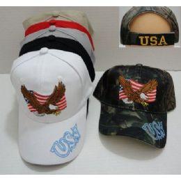 72 Units of Flying Eagle With FlaG-Usa On Bill - Baseball Caps & Snap Backs
