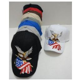 48 Units of Eagle With Flag Hat - Baseball Caps & Snap Backs