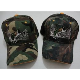 48 Units of Camo Fish Hat - Hunting Caps
