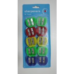 12 Units of 10pc Pencil Sharpener - Sharpeners