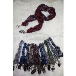 72 Units of Ladies Fashion Scarf With Ornament - Womens Fashion Scarves