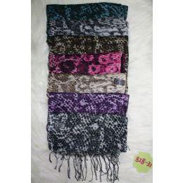72 Units of Ladies Animal Print Scarf - Winter Scarves