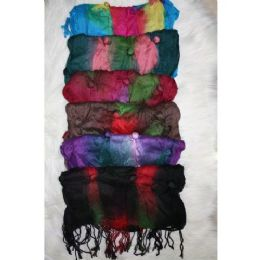 72 Units of Ladies Trendy Button Scarf - Winter Scarves
