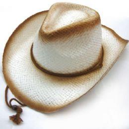 48 Units of COW BOY STRAW HATS - Cowboy & Boonie Hat