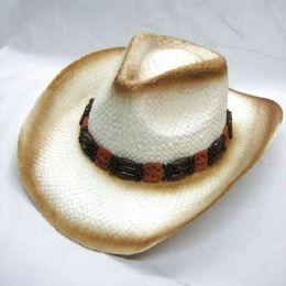 36 Units of COW BOY STRAW HATS - Cowboy & Boonie Hat