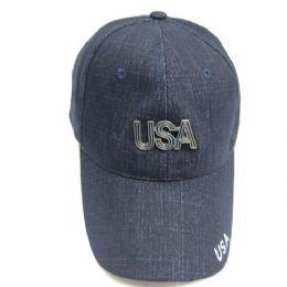 72 Units of Usa Baseball Cap - Baseball Caps & Snap Backs