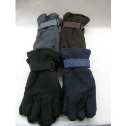 72 Units of Mens Fleece Glove - Fleece Gloves