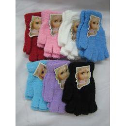 144 Units of Super Fuzzy Fingerless Gloves - Fuzzy Gloves
