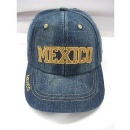 120 Units of Mexico Kids Baseball Cap - Kids Baseball Caps