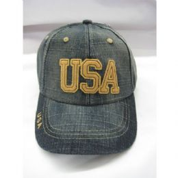 72 Units of Usa Kids Baseball Cap - Kids Baseball Caps