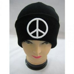 72 Units of Peace Sighn Winter Hat - Winter Beanie Hats