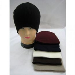 144 Units of Unisex Basic Winter Hat Assorted Colors - Winter Beanie Hats