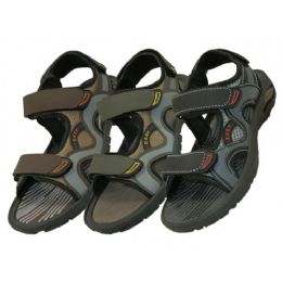 24 Units of Boys' Velcro Strap Sandals - Boys Flip Flops & Sandals