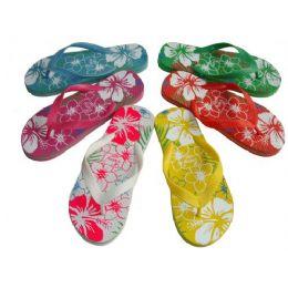 48 Units of Lady Printed Flip Flop - Women's Flip Flops