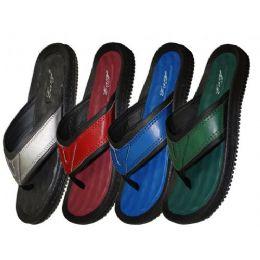 36 Units of Men's Solid Color Gel Insole - Men's Flip Flops and Sandals