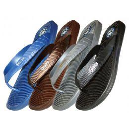 36 Units of Men's Ridged Sport Thong - Men's Flip Flops and Sandals