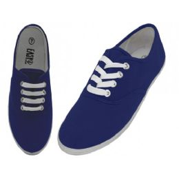24 Units of Women's Lace Up Casual Canvas Shoes (*navy Color ) - Women's Sneakers