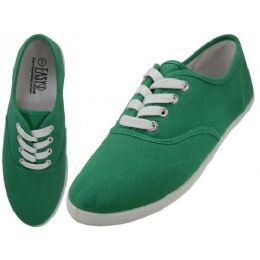 24 Units of Ladies Canvas Shoes Holly Green - Women's Sneakers