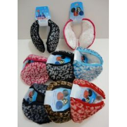 72 Units of Earmuffs With Fur InsidE--Printed - Ear Warmers