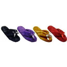 36 Units of Ladies Plush Flip Flop - Women's Flip Flops