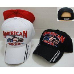 24 Units of American Biker Baseball Cap - Baseball Caps & Snap Backs