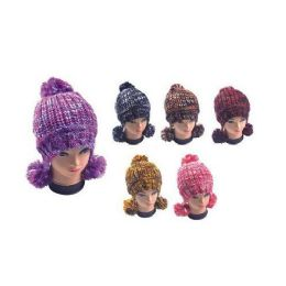 36 Units of Multicolor Hat With Pom Poms - Winter Helmet Hats
