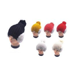 36 Units of Hat with Earmuffs - Winter Helmet Hats