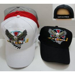 144 Units of Eagle With Peace Pipe Hat - Baseball Caps & Snap Backs