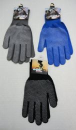 60 Units of Sports Gloves with Gripper Palm--Assorted Colors - Knitted Stretch Gloves
