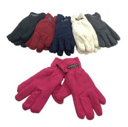 12 Units of Women's Thermal Insulate Winter Gloves - Knitted Stretch Gloves
