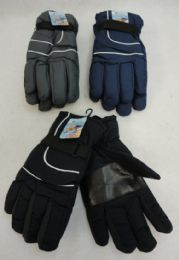 36 Units of Men's Dark Colors Snow Gloves - Ski Gloves