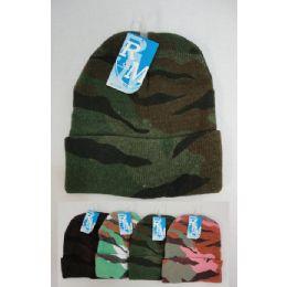 48 Units of Camo Toboggan Winter Hat - Winter Beanie Hats