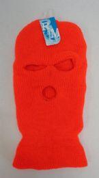 36 Units of Orange Ski Mask - Unisex Ski Masks