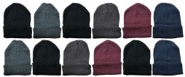 36 Units of Unisex Winter Warm Acrylic Knit Hat - Winter Beanie Hats