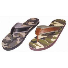 36 Units of Mens Camo Flip Flop - Men's Flip Flops and Sandals