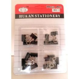 72 Units of 18 Pack Mini Binder Clips - Clips and Fasteners