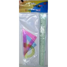 72 Units of 4 piece ruler set - Rulers